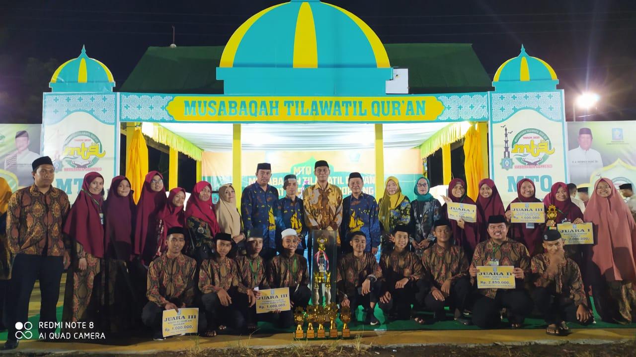 Kecamatan Liliriaja Raih Juara Umum MTQ II Tingkat Kab.Soppeng Tahun 2020