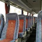 Het interieur van de Setra van Ava Coach (GB)