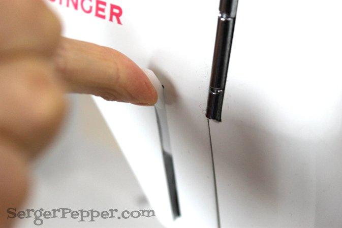 Serger Pepper - Sewing Denim like a Pro - raise the presser foot higher
