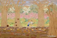 'Gemeinschaft', Acryl, echte Baumrinde, Kalahari- Papier auf Leinwand, 150x100, Mai 2011