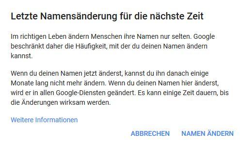 google benutzernamen ändern