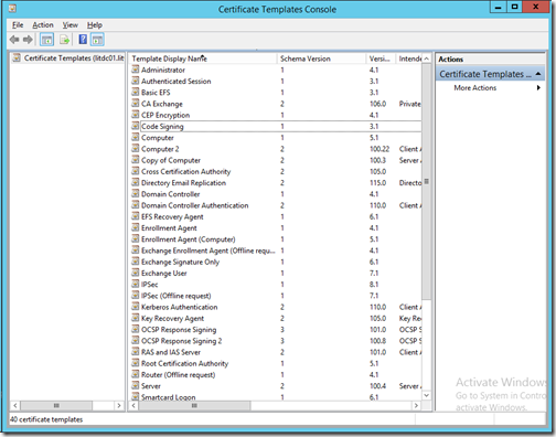 Technical deep dive how to enable certificate autoenrollment computer certificate template and duplicate it call your new certificate computer 2 and change any settings you need to change eg validity period yadclub Gallery
