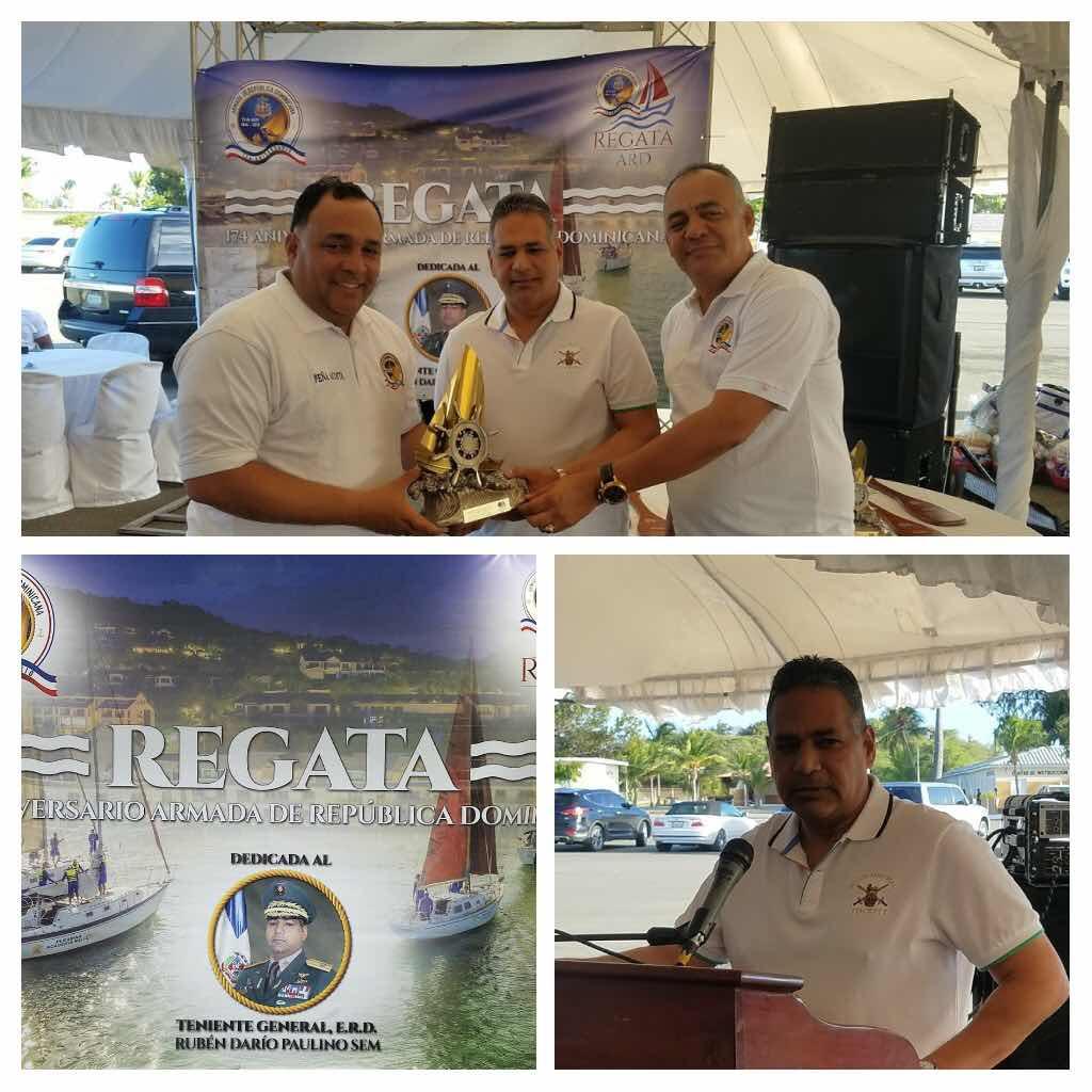 Armada concluye festividades 174 aniversario con regata de veleros dedicado al ministro de Defensa Paulino Sem.