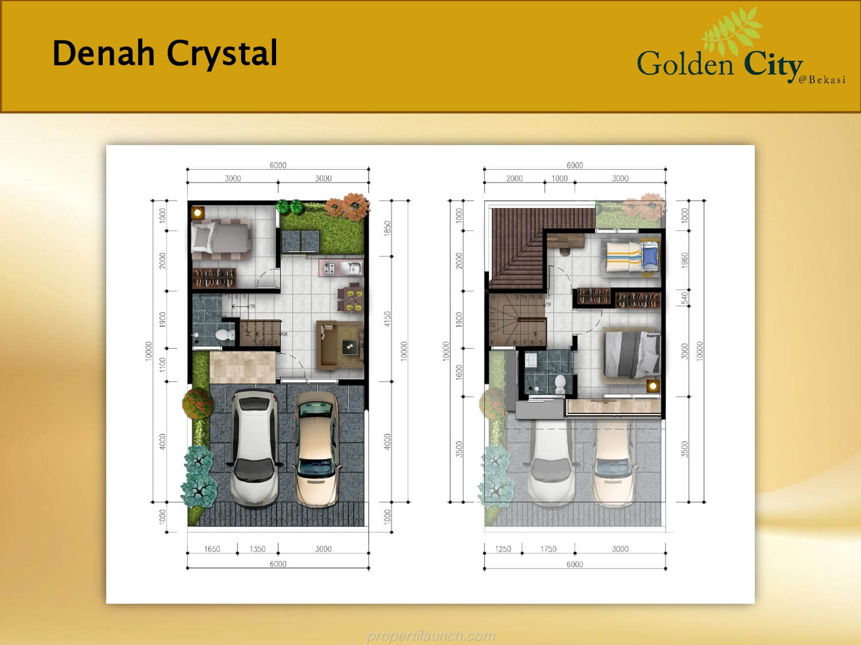 Denah Rumah Crystal Cluster Diamond Golden City Bekasi