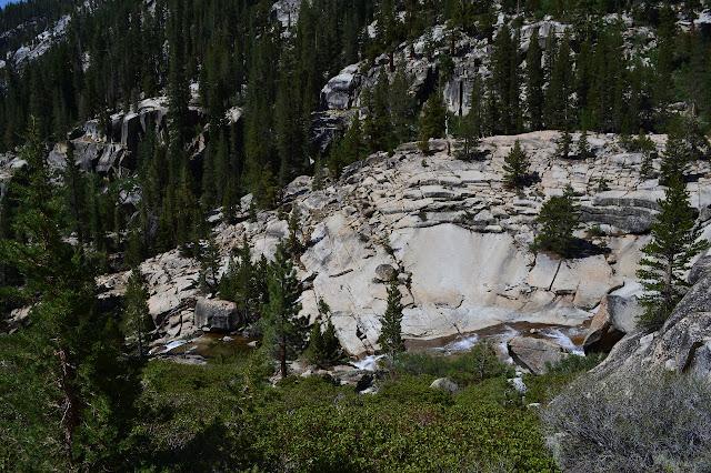 flow over the flat granite rocks