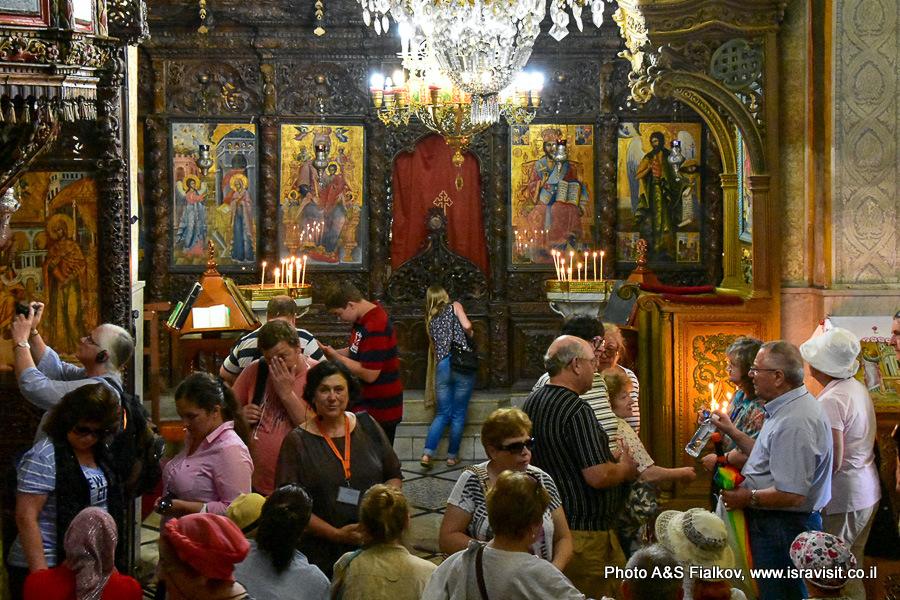 Экскурсия в православной церкви Благовещения. Назарет. Гид Светлана Фиалкова.