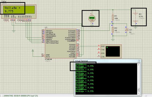 Circuit Diagram of Voltage measurement