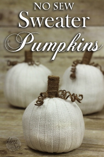 Easy No Sew Pumpkins from Old Sweater Sleeves