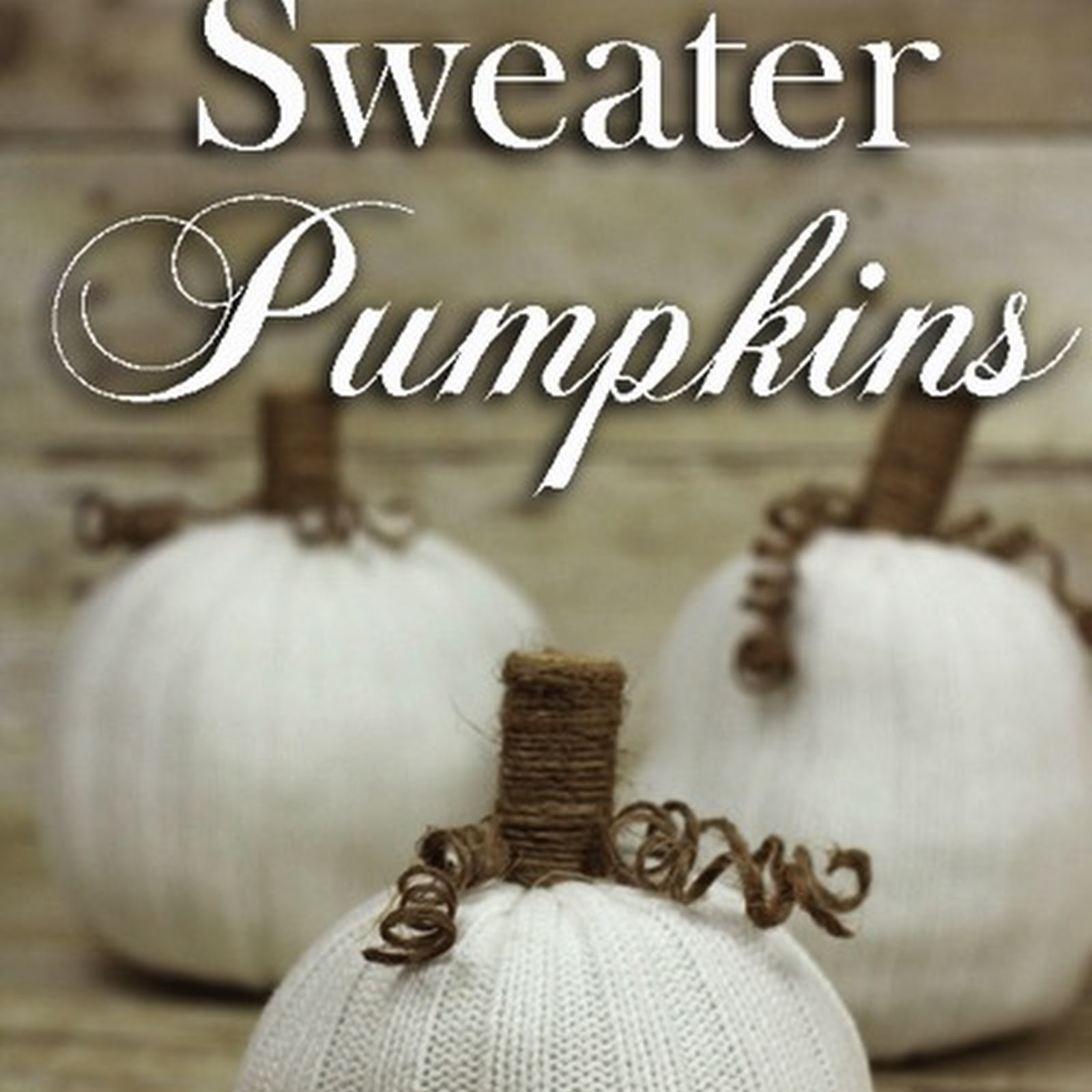 Easy No Sew Knit Sweater Pumpkins