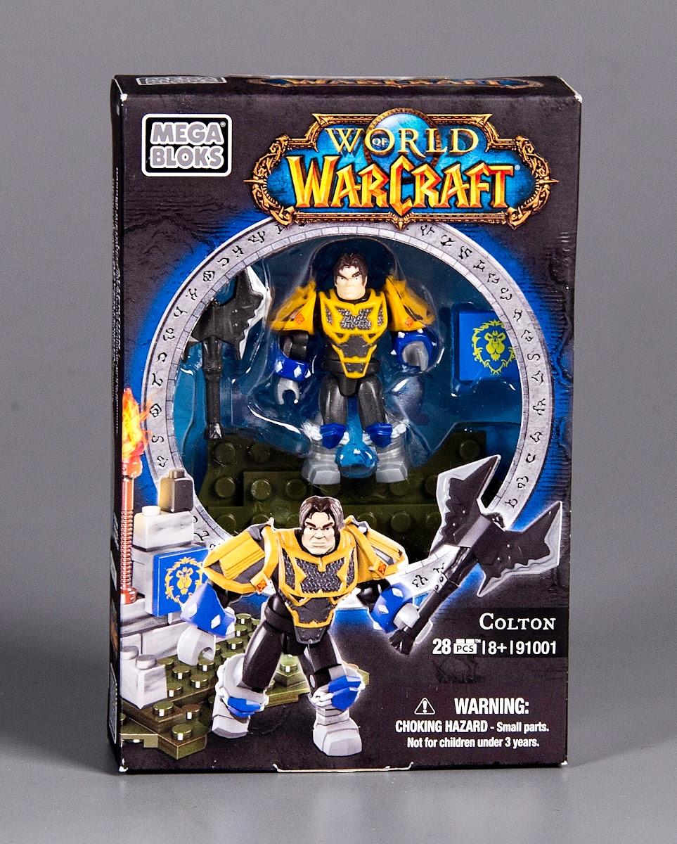 Mega Bloks World Of WarCraft  New Figure Set Colton includes 28 pcs.