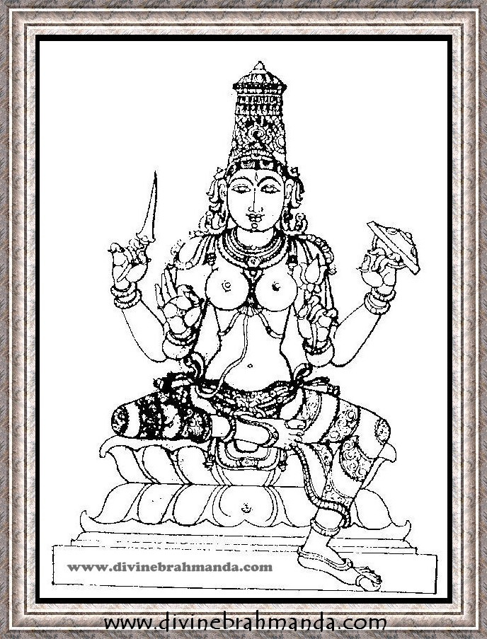 Soundarya Lahari Sloka, Yantra & Goddess For Getting sons as progeny - 06