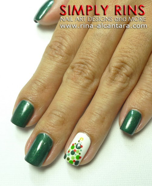 Christmas Nail Art Tutorial Gingerbread Galore: Nail Art Tutorial: Christmas Tree Ala Polka Dots
