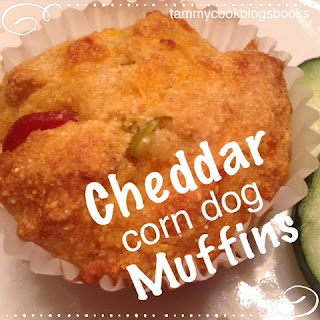 RecipeReview Cheddar Corn Dog Muffins ~ source:tammycookblogsbooks