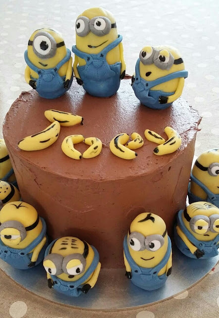 AnnieThing for Food Minions Birthday Cake