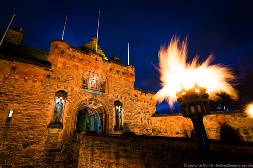 Edinburgh Castle by torchlight