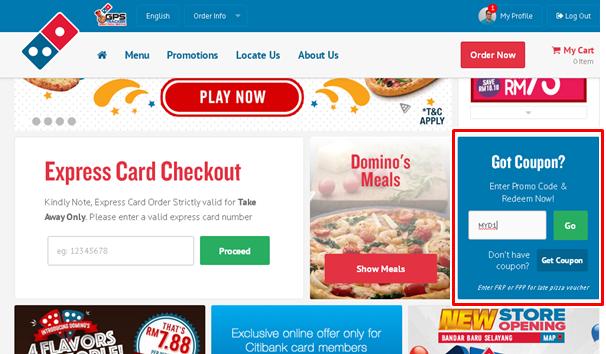 masuk kod promo MYD1 untuk mendapat diskaun 50% pesanan online