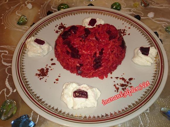 Pancarlı Pirinç Pilavı – Kırmızı Pilav