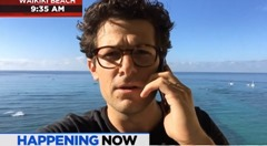 Jacob Soboroff on the beach