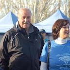 Vicente del Bosque visitando la Feria de la Diabetes