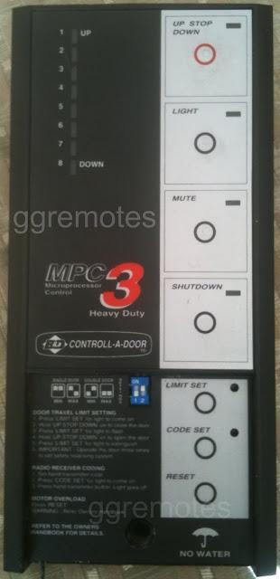 Roller Garage Door Remote Control Kit Suits B Amp D Uhf Radio