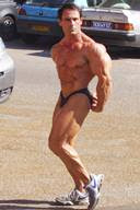 Off Stage Massive Male Bodybuilders