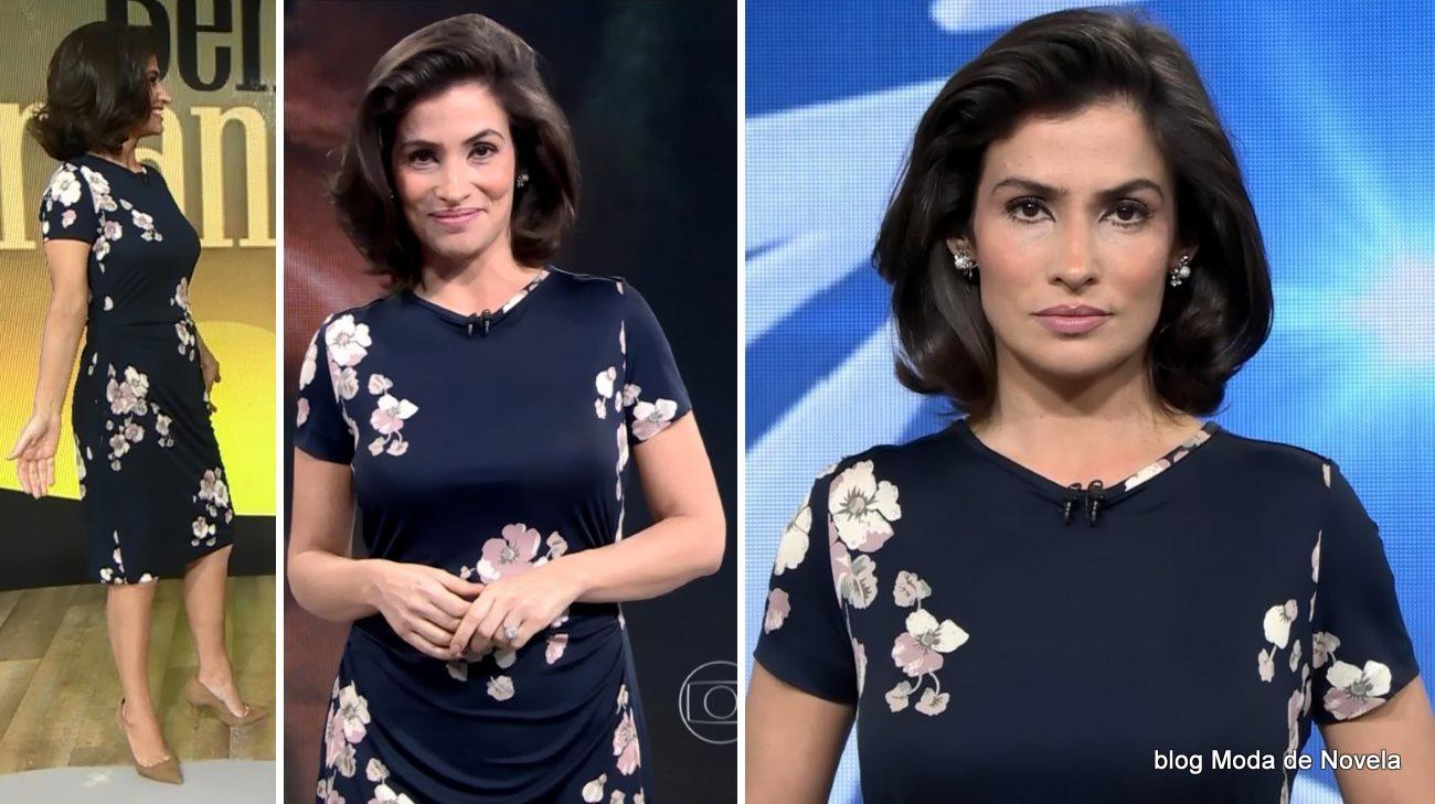 moda do programa Fantástico - look da Renata Vasconcellos dia 20 de julho