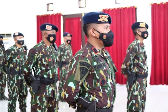 Jajaran Perwira Batalyon B Pelopor Turut Serta Dalam Upacara Virtual HUT Ke-62 Pelopor Korps Brimob Polri