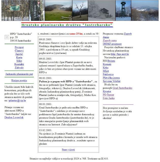 10 godina web stranica