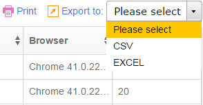Resend, print or export to CSV
