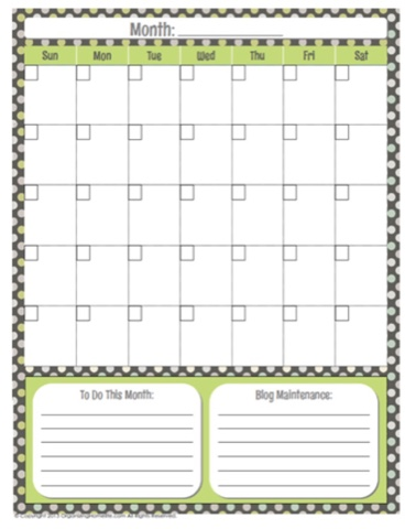 editable blank calendar