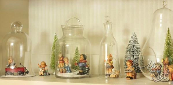Miniature hummel vignette for christmas