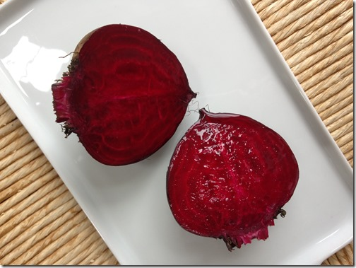 Fresh Beets ready to peel and slice for Grilled Beet and Goat Cheese Pizza | Photo | The Lisa Porter Collection