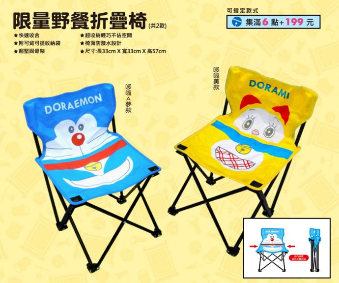 3 7-11 哆啦A夢樂遊一夏集點送 野餐折疊桌、野餐折疊椅、公仔自動傘、哆啦A夢面紙套、立體保冷袋、漫畫風玻璃便當盒