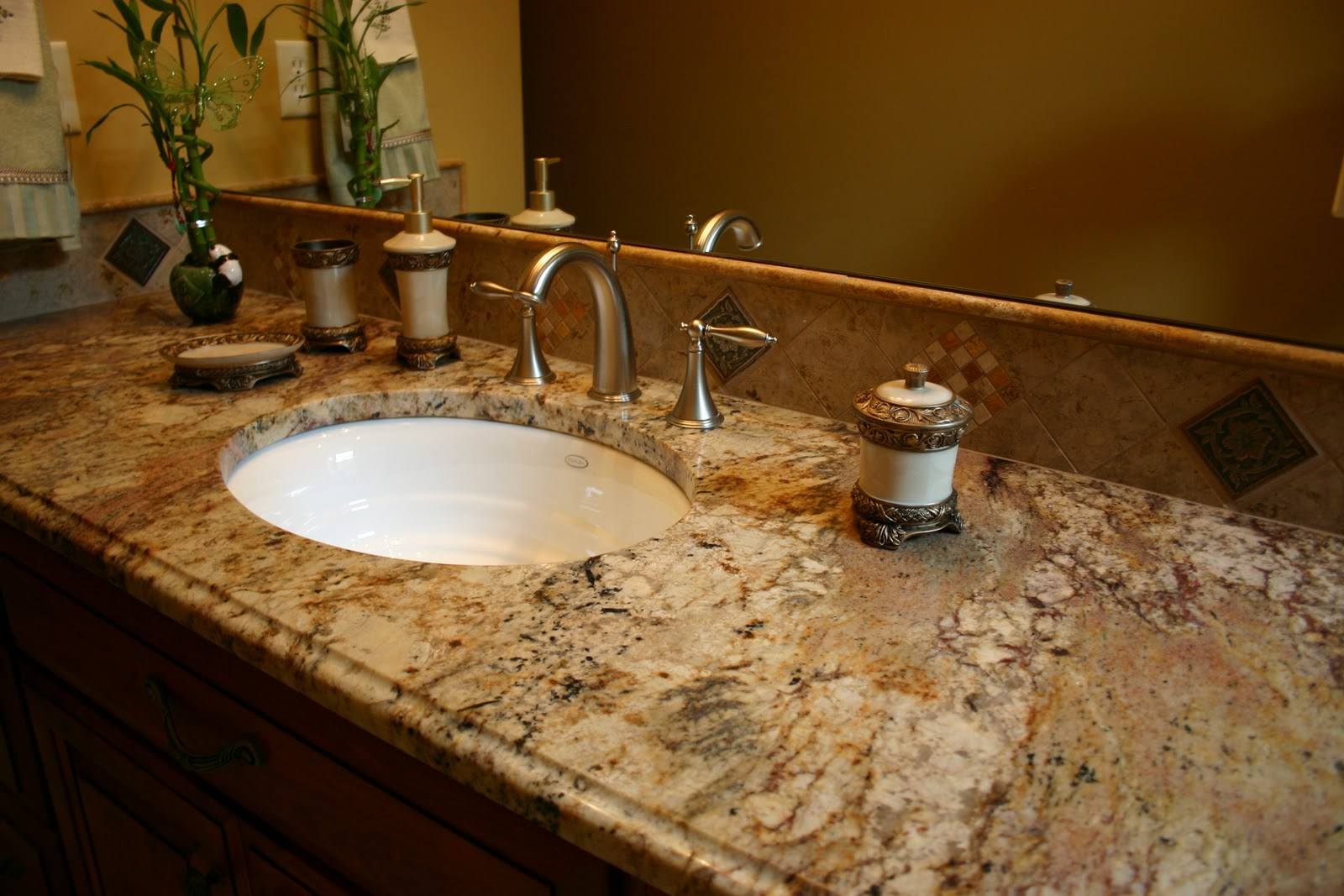 The granite gurus april 2013 for Bathroom countertops