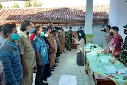 Pembentukan Panitia Pilkades 2021 dan Sumpah Panitia di Desa Krengi Dihadiri Forkompincam Kecamatan Rembang