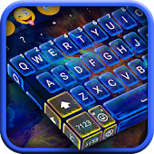 Blue Fire Key Keyboard