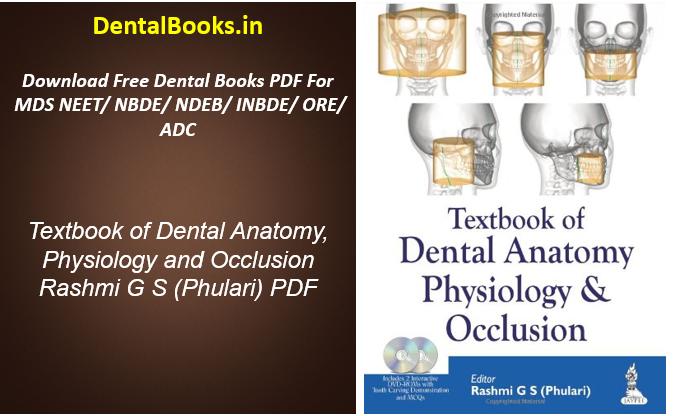 Textbook of Dental Anatomy, Physiology and Occlusion Rashmi G S (Phulari) PDF