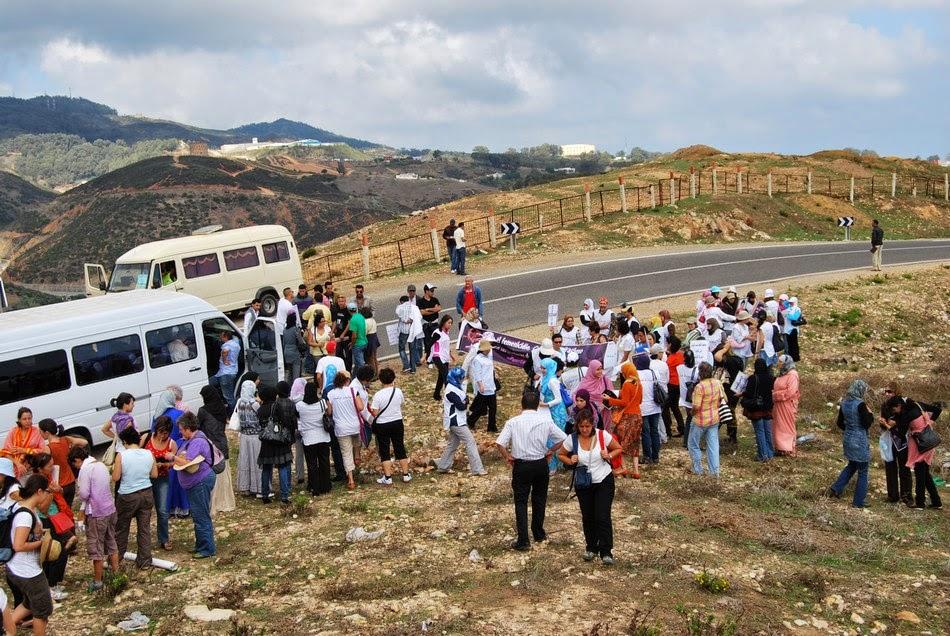 Caravana a la valla de Ceuta 01