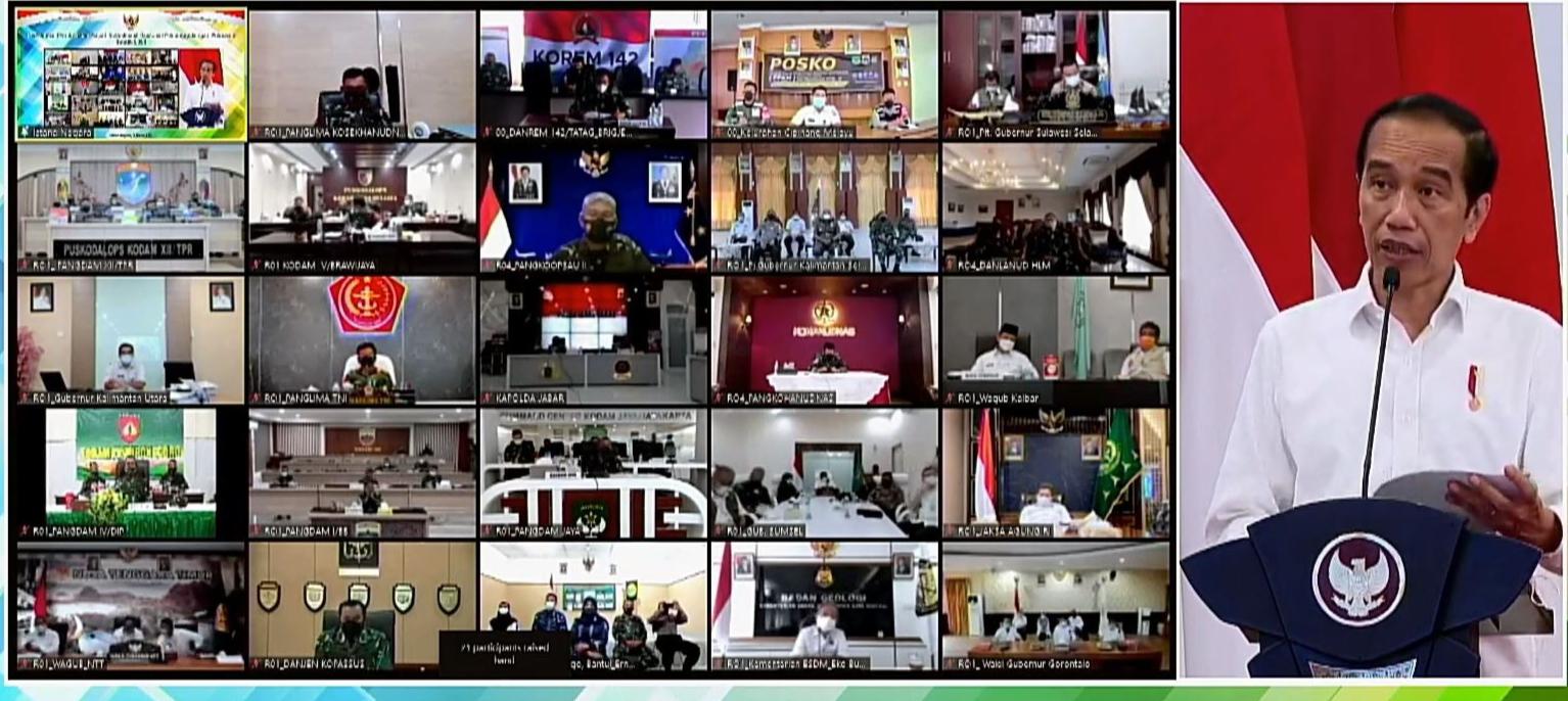 Buka Rakornas Penanggulangan Bencana, Presiden Jokowi Soroti Penataan Ruang Yang Mengabaikan Aspek Kerawanan