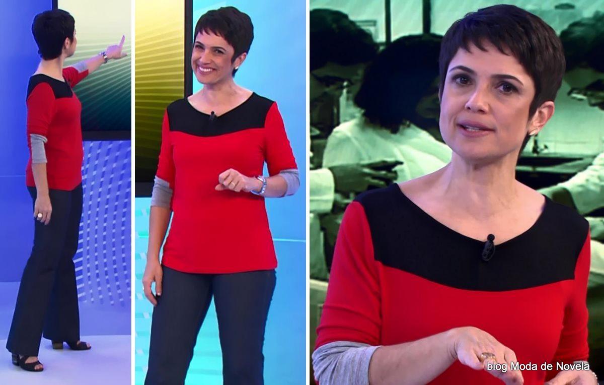 moda do programa Globo Cidadania - look da Sandra Annenberg dia 14 de junho