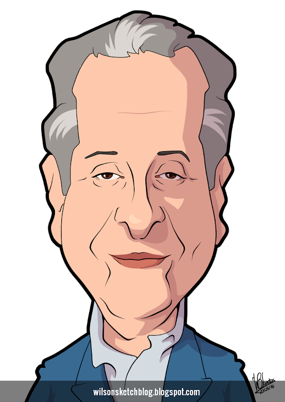 Cartoon caricature of Nicolau Breyner.
