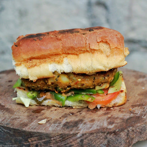 Veggie Patty Subway Sandwich Recipe | Classic Subs | Step by step recipe for Veggie Patty Sub | Indian Subway Sandwiches | Written by Kavitha Ramaswamy of Foodomania.com