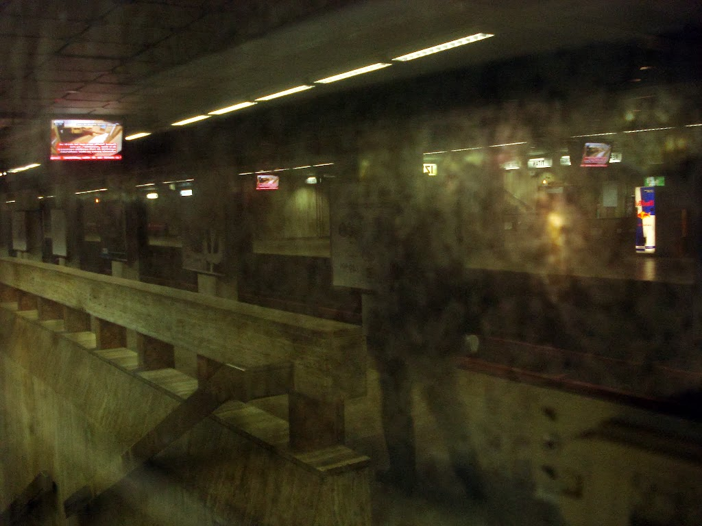 Waiting the subway