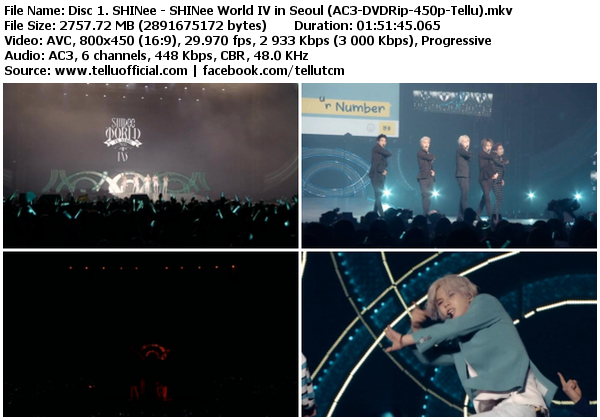 Download [Concert] SHINee – SHINee World IV in Seoul [DVDRip]