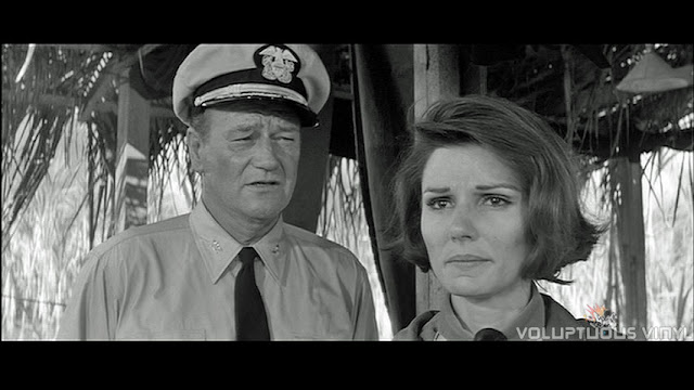 John Wayne and Patricia Neal