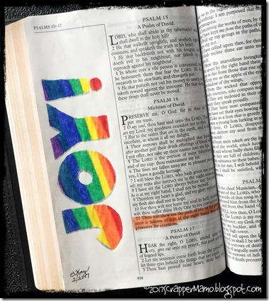 Bible Art Ps 16-11 JOY