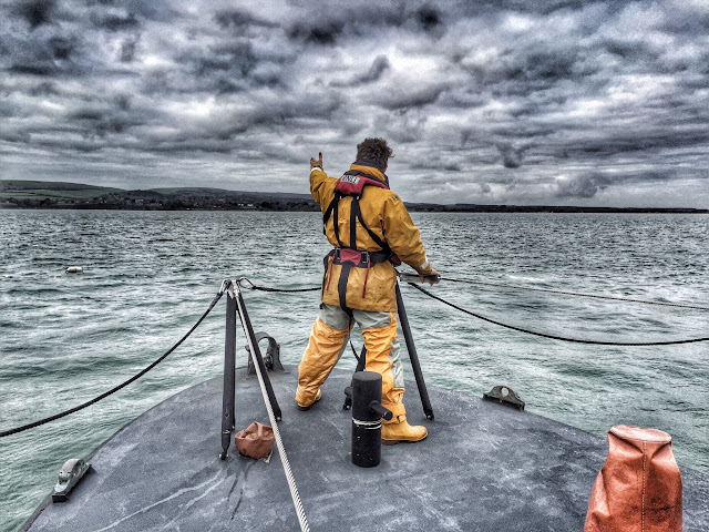 Man overboard exercise on the ALB, 13 December 2015.  Photo credit: Dave Riley
