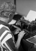Photo: Doug typing on his baby