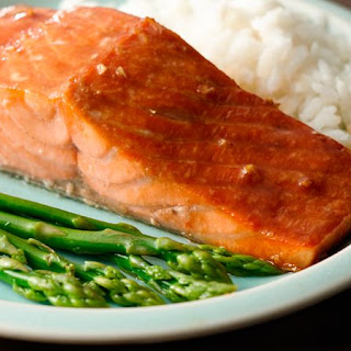Grilled Salmon with Honey-Soy Marinade.