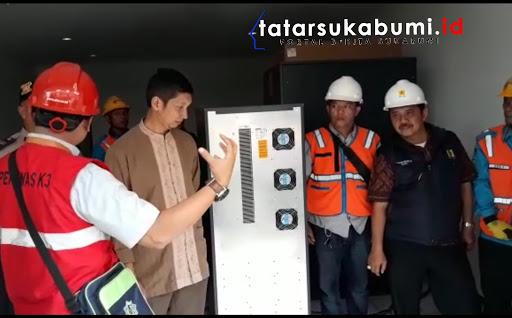 Antisipasi Down Listrik pada Pemilu 2019 PLN Pasang UPS Berkekuatan 80 KVA di KPUD Sukabumi